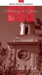 Annual Report 2011 - Shaker Heights City School District
