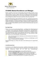 Erstinformation zu STARKE Bäcker/Konditoren und Metzger - Baden ...