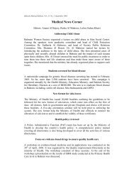 Medical News Corner - Bahrain Medical Bulletin