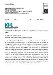 Gemeinsame Pressemitteilung der Landeshauptstadt Dresden mit ...