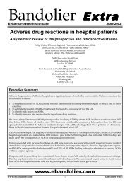 www.ebandolier.com Adverse drug reactions in hospital patients