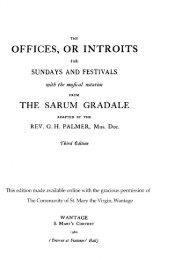 Introits for Sundays and Festivals from the Sarum ... - MusicaSacra