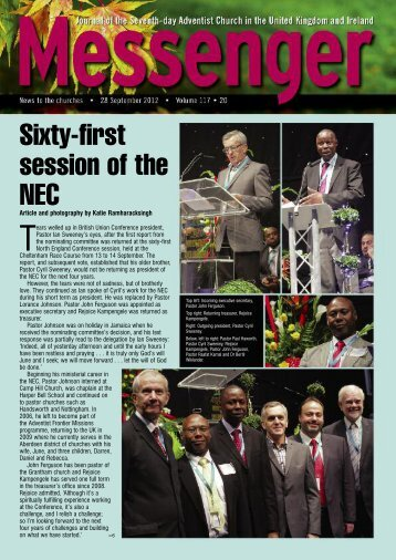Sixty-first session of the NEC - Seventh-day Adventist Church in the ...