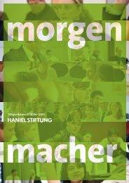 Tätigkeitsbericht 2006 – 2010 - Haniel Stiftung