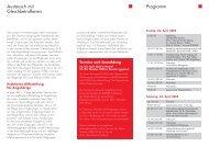 Austausch mit Gleichbetroffenen Programm - Hannelore Kohl Stiftung