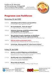 Briefkopf zur RehaCare 2004 - Hannelore Kohl Stiftung