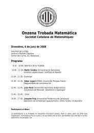 11a Trobada - IEC - Institut d'Estudis Catalans