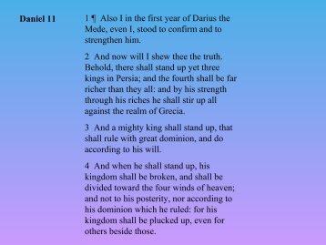 8. Daniel Chapter 11 - Bible Teaching Program