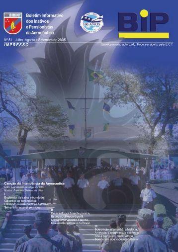 BIP Nº 051 - Julho, Agosto e Setembro 2005 - Subdiretoria de ...