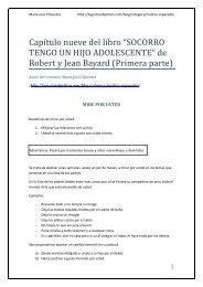 Este pdf contiene indicaciones del libro Socorro tengo un hijo ...
