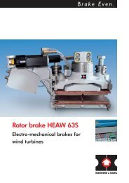 Rotor brake HEAW 63S - Hanning & Kahl