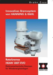 Rotorbremse HEAW 300T EVO Innovatives ... - Hanning & Kahl
