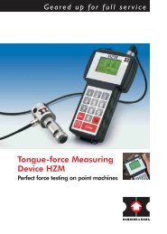 Tongue-force Measuring Device HZM - Hanning & Kahl