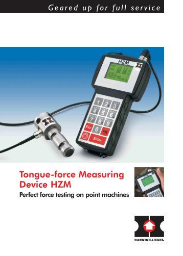 Force Measuring Device : Hanning kahl magazines
