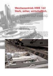 Weichenantrieb HWE162 - Hanning & Kahl