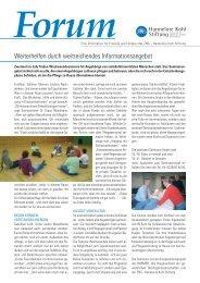Forum - Hannelore Kohl Stiftung