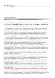 Luces y sombras El neoclasicismo en la Argentina colonial