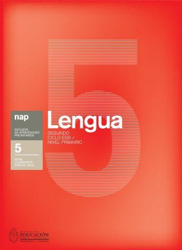 Lengua 5 - Ministerio de Educación