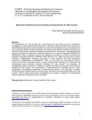 V ENEC - Encontro Nacional de Estudos do Consumo I Encontro ...