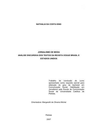 1 NATHALIA DA COSTA KING JORNALISMO DE MODA ... - EnModa