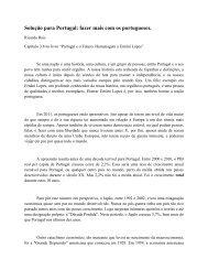 Solução para Portugal: fazer mais com os portugueses. - Columbia ...