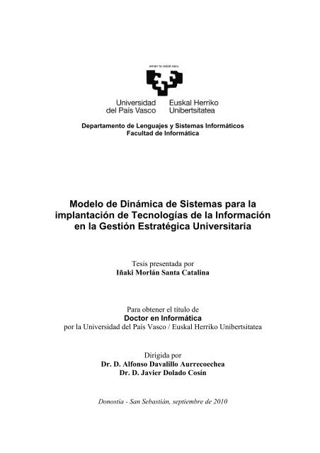 Tesis Im Universidad Del País Vasco