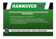 gegen FC Brügge - Hannover 96