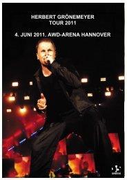 HERBERT GRÖNEMEYER TOUR 2011 4. JUNI 2011 ... - Hannover 96