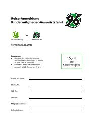 15,- € - Hannover 96