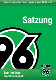 Satzung - Hannover 96