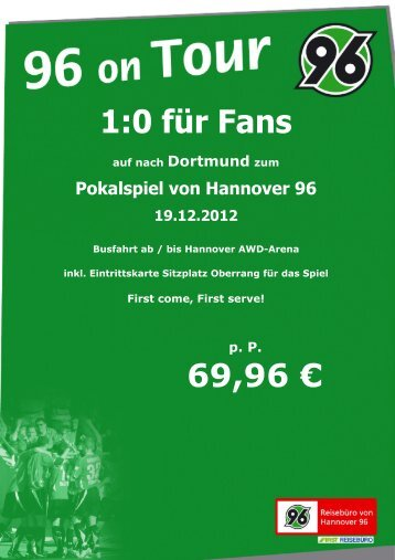 Pokalspiel Dortmund - Hannover 96