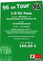 Nürnberg mit Christkindlesmarkt - Hannover 96