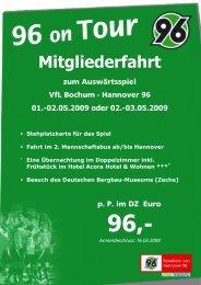 In diesem Flyer findet Ihr alle Infos rund - Hannover 96