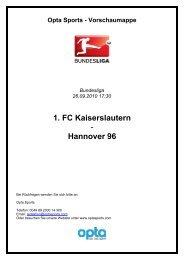 findet ihr die komplette opta-vorschaumappe - Hannover 96