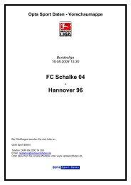 findet Ihr mehr Opta-Statistiken als pdf - Hannover 96