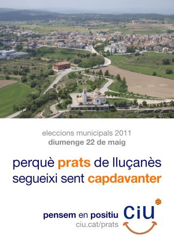 Programa electoral CIU 2011