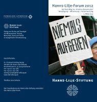 Einladungskarte - Hanns-Lilje-Stiftung