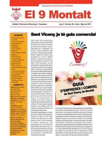 Butlletí abril 11.pmd - Ajuntament de Sant Vicenç de Montalt