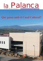 Què passa amb el Casal Cultural? - La Palanca