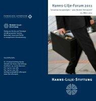 Einladung Hanns-Lilje-Forum mit M. Thieme und - Hanns-Lilje-Stiftung