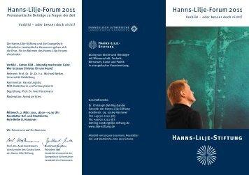 Programm - Hanns-Lilje-Stiftung
