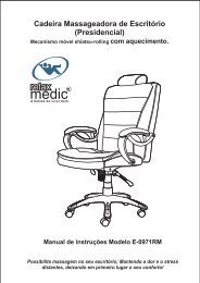 Cadeira Massageadora de Escritório (Presidencial) - Relaxmedic