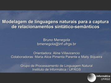 Modelagem de linguagens naturais para a captura de ...