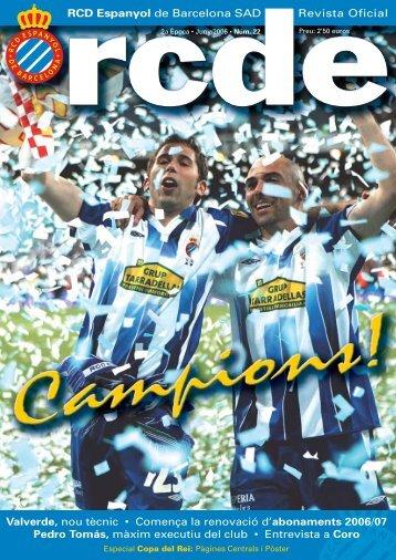 RCD Espanyol de Barcelona SAD Revista Oficial Valverde, nou ...