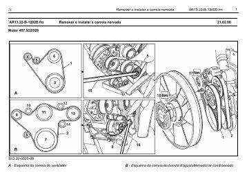 1 Remover e instalar a correia nervada AR13.22-B-1202D.fm Motor ...