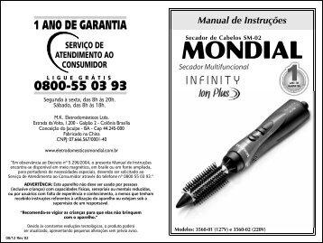 Manual_Secador Multifuncional Infinity Ion Plus SM-02 08 ... - Mondial