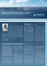 NEWSLETTER AUSGABE 1/2011 - Hanseatic Consulting