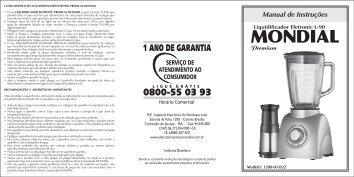 Manual_Liquidificador Eletro... - Mondial