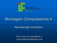 Montagem Computadores II - Campus Porto Seguro