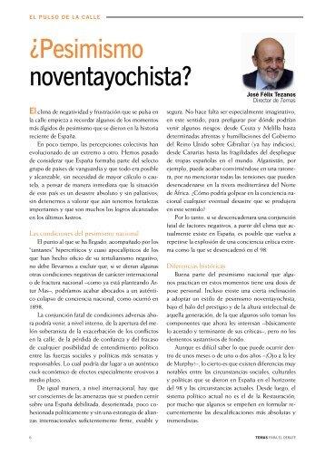 ¿Pesimismo noventayochista? - Revistas culturales